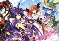 Date A Live Anime Manga HQ Tiled Print Poster, Various sizes from A4,A3