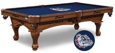 Gonza Bulldogs Logo Cloth Pool Table