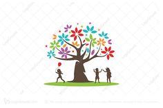 Fun And Learn Logo Bird Logos, Tree Logos, Learning Logo, Fun Learning, Custom Raffle Tickets, Education Logo Design, Plant Logos, Cartoon Birds, Construction Logo