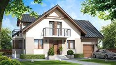DOM.PL™ - Projekt domu ZA Dom w Teksasie CE - DOM ZA1-51 - gotowy koszt budowy Home Fashion, Sweet Home, Mansions, Architecture, House Styles, Roof Ideas, House Inspirations, Outdoor Decor, Modern Houses