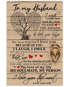 To My Husband Poster – Family Love Gifts Love My Husband Quotes, Soulmate Love Quotes, Husband Love, Love Quotes For Him, Encouragement, Gifts For Fiance, Romantic Love Quotes, Love Gifts, Bff Gifts