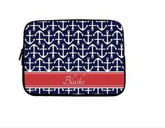 Cute...even if it isnt 31  Personalized Laptop Case  Nautical Anchor by LoveyDoveyCreations, $35.00