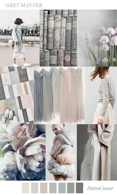 GREY MATTER by PatternCurator mood board, color palette