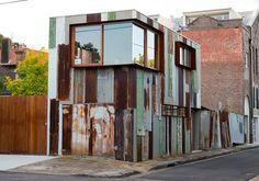 Cladding - re-cycled corrugated iron?