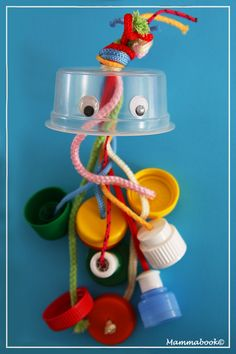 Jellyfish DIY recycled baby toy by Mammabook