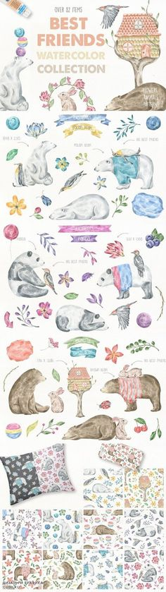 Best Friends Watercolor Collection 895374