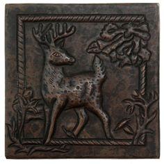 Copper Tile (TL955) Deer Design