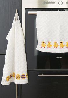 Dagens gratisoppskrift: Grytekluter og kjøkkenhåndklær til påske | Strikkeoppskrift.com