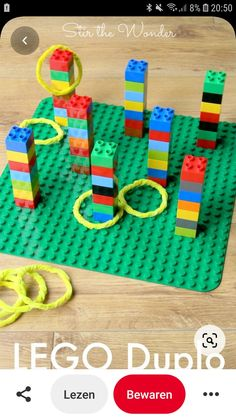 LEGO Duplo Ring Toss LEGO Duplo Ring Toss is a fun game that kids can build and play! Learning such as fine motor skills and math can also be incorporated with this activity! Lego Duplo, Fun Games, Games For Kids, Fun Activities, Dinosaur Birthday Party, Birthday Party Games, Birthday Boys, Ring Toss, Gaming
