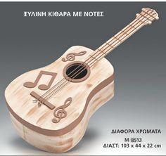 μπαουλο βαπτισης ξυλινη κιθαρα με νοτες 103x44x22εκ-nifika l'amour