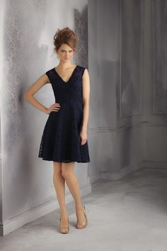 Mori Lee Affairs 31041 Short Lace Bridesmaid Dress - French Novelty   THIS ONE!!