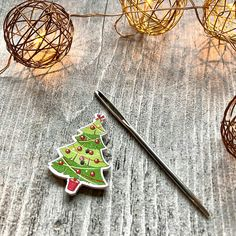 Christmas Tree Design, Needle Minders, Darning, Tree Designs, Gift Guide, Crafty, Embroidery, Sewing, Fabric