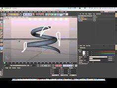 Cinema 4D Tutorial_Spline warp (use to deformer) (시네마 4D 디포머 라인애니메이션 강좌) - YouTube