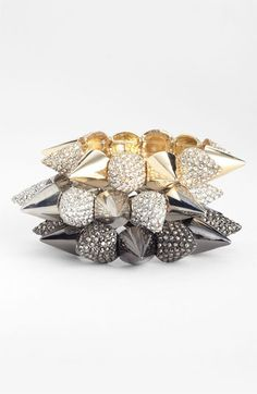 Cara Accessories Spiked Stretch Bracelets from @Nordstrom