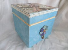 Memory or Keepsake Box for women. Turquoise Brown by MyMemoryBoxes, $38.00