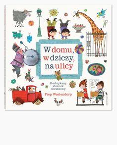 Rozbrykany słownik obrazkowy Kartonowy słownik obrazkowy dla maluchów, z uroczymi, stylowymi ilustracjami słynnej holenderskiej graficzki.Spójrz, jak piękny i wielki jest świat! Na ulicy, w parku, w domu, w szkole, w lesie – wszędzie pełno jest rzeczy, ludzi i zwierząt! Znajdź je w tej książce i sprawdź, jak się nazywają.Ciepłe, zabawne rysunki przedstawiają miejsca, przedmioty, czynności, …