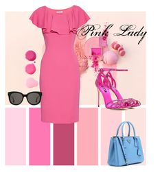 """""""pink lady"""" by clarerizzo on Polyvore featuring Gina Bacconi, Dolce&Gabbana, Prada and Gentle Monster"""