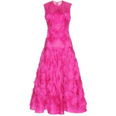 Roksanda Silk Organza Dress (89.140 ARS) ❤ liked on Polyvore featuring dresses, pink, pink cocktail dress, roksanda, roksanda dress, silk organza dress and pink dress