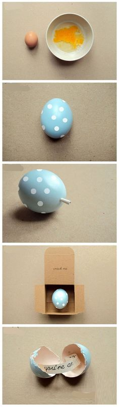 This post is for an easter egg fortune but this is how im doing my next gender reveal!!!! - What a great idea!! You could have a bunch of them as favors!