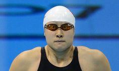 Susto de una nadadora china en Londres 2012