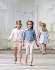 Bonpoint pastel and chambray