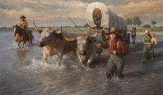 Morgan Weistling - Crossing the Cheyenne River, - LIMITED EDITION PRINT from the Greenwich Workshop Fine Art Gallery featuring fine art prints, canvases, books, porcelains and gift ideas.