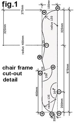 Adirondack chair seat side-plan