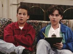 """Boy Meets World: The title points to one """"boy"""" in particular — the neurotic and lovable Cory Matthews — yet I think the spotlight ultimately belongs to his BFF. Some might argue that Cory was better than Shawn Hunter, but I disagree. Sure, Cory was… Boy Meets World Shawn, Boy Meets World Quotes, Girl Meets World, Cory And Shawn, Cory And Topanga, School Boy, Summer School, Cory Matthews, Ben Savage"""