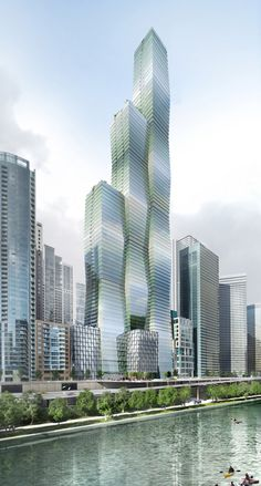 Vista Tower, Chicago-United States | 361.6 m / 1,186 ft | Proposed 2014 | Studio Gang Architects