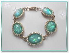 Aqua Opal & Aurora Borealis Necklace