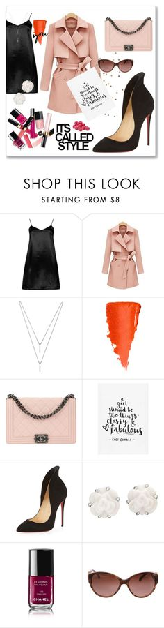 """Outfits de fin de año"" by drerak ❤ liked on Polyvore featuring Boohoo, Furifs, BCBGeneration, Chanel, Christian Louboutin, MyStyle, fashionset, Fashiondesigners and drerak"