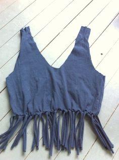 e9b584d94 DIY No sew fringe Tshirt tote bag