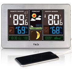6d4f9f179 [$16.69 Save 38%] #LightningDeal 75% claimed: FanJu FJ3365 Wireless Weather