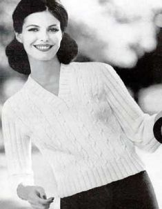 Slipover Sweater III, Sizes 12, 14, 16 and 18, No. 7 | Knitting Patterns