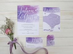 Purple Watercolor by Pine Paperie - 003