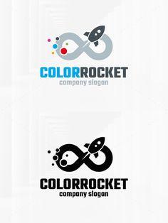 Color Rocket Logo Template. Logo Templates. $29.00