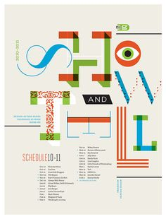 Show & Tell PSU Design Lecture Series Poster