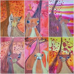 My 1st graders got a little squirrely today. #kidsart