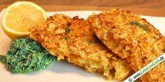 Panierter Fisch bei Low Carb? Kein Problem! Ein leckeres Low Carb Rezept für Dorschfilet in Mandel-Basilikum-Panade. Dazu Gemüse und Remoulade ...  #lowcarb   Mehr Low Carb Fischgerichte auf http://www.lebelowcarb.de/low-carb-rezepte-fuer-fischgerichte.html