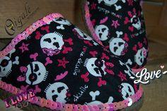 Oigalê Love Skulls!!! Bjos coloridos e brilhantes
