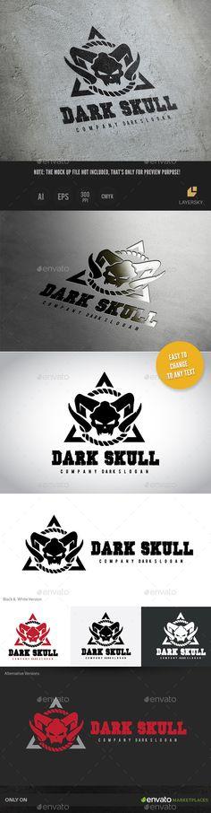 Dark Skull — Vector EPS #obscure #metal • Available here → https://graphicriver.net/item/dark-skull-/11383921?ref=pxcr