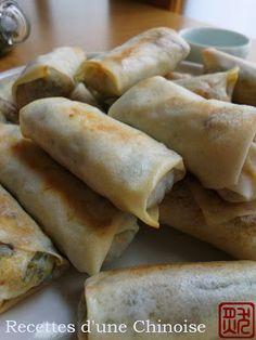 Recettes d'une Chinoise: Pour la fête du printemps : rouleau de printemps végétarien 春卷 chūnjuǎn