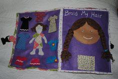 CHILDREN'S  BUSY BOOK soft quiet book felt by SunsetBlueGifts, $75.00