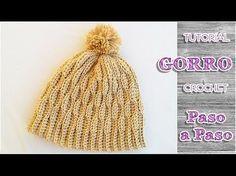 Como tejer gorro de lana crochet para todos los talles - YouTube Boina De  Ganchillo 682faee1f345