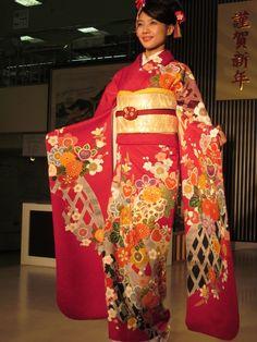Kimono from a Kyoto fashion show.  We will wear Kimono's in Kyoto for a day!