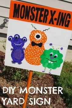 Monster X-ing Yard Sign