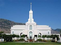 Mount Timpanogos Utah Temple - We lived in this temple district for a short while.  We visited the grounds on a Sunday afternoon before our first child was born and reflected on eternal families.