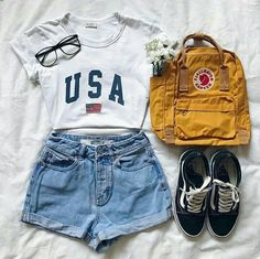 - Outfits for teens - cute summer outfits - Kids Style Cute Outfits For School, Teenage Outfits, Teen Fashion Outfits, Cute Fashion, Stylish Outfits, 90s Fashion, College Fashion, Fashion Clothes, Women's Clothes