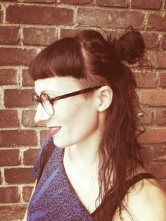 short fringe and shaved - very tempted to do this!