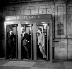 The Beatles filming A Hard Day's Night at Marylebone Station, 1964. Photo - I think - by David Hurn.